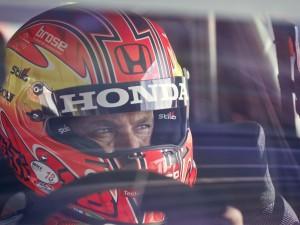 Tiago Monteiro al volante de su Civic WTCC en el debut de Marrakeich