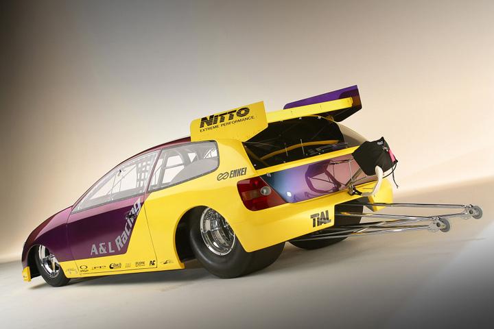 512 - los 6 vehículos más curiosos jamás creados por Honda - NHRA Honda Civic Si Pro Drag Car